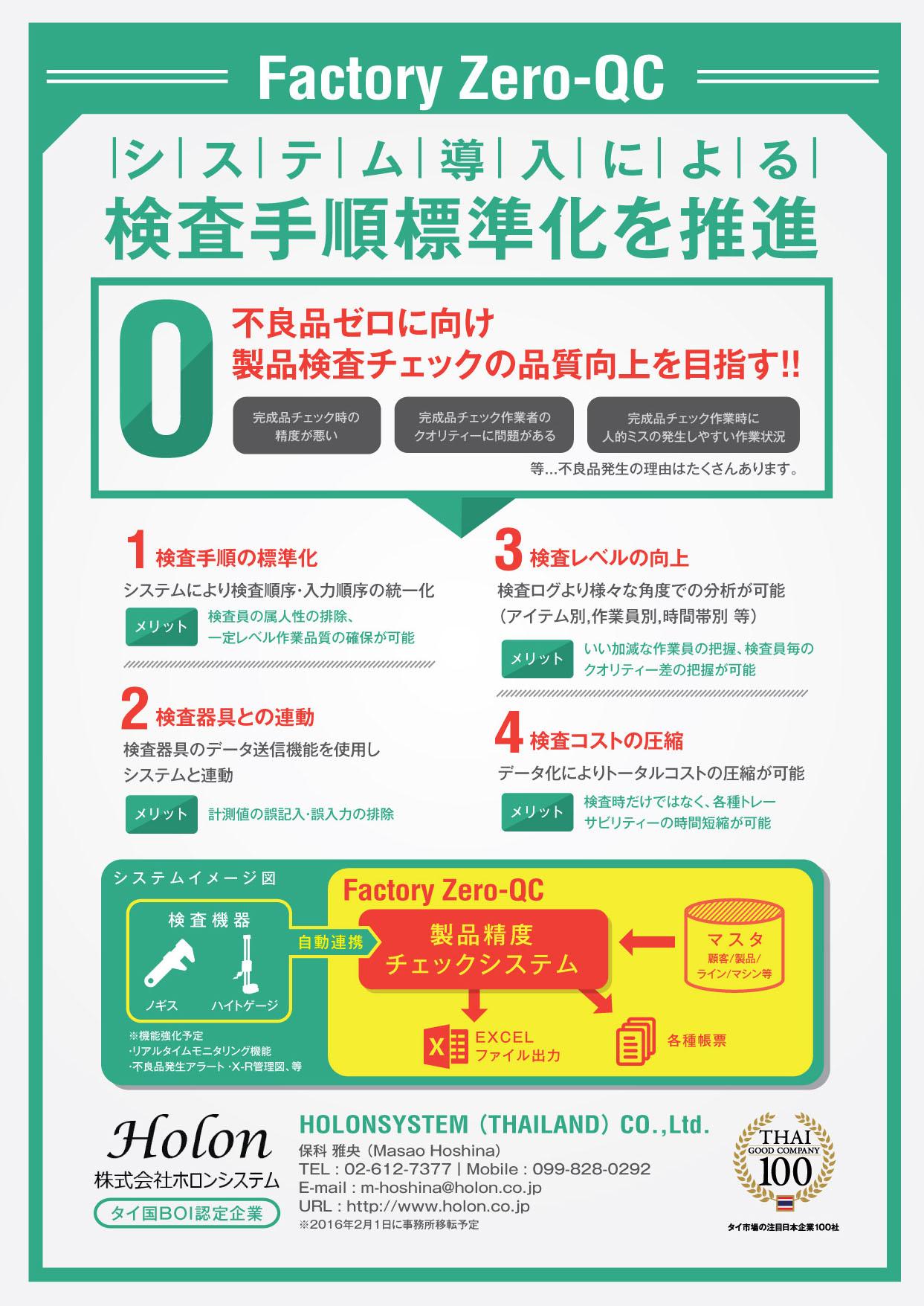 品質マネジメントシステム支援ソリューション 【製品名】Factory Zero-QC